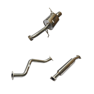 Cat Back Exhaust ~ 02-03 Mazda Protege 5 Acero inoxidable 201 Sistema de escape pulido espejo