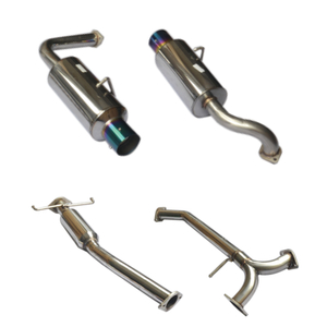 "Cat Back Exhaust ~ 03-07 Mazda 6 Dual Muffler N1 4 ""Acero inoxidable 201 Sistema de escape pulido espejo"
